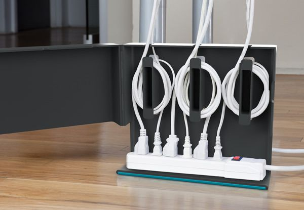 25 creative ways to organize your family 39 s electronics Extension cable organizer