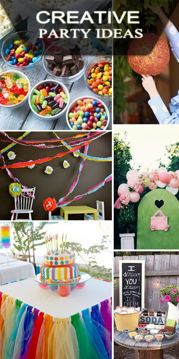 creative party ideas hative