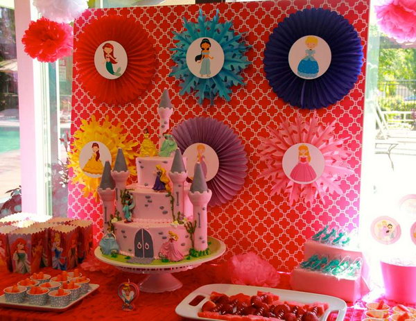 Disney Princess Birthday Party Many Girls Must Like Cartoons And Dream About Being A