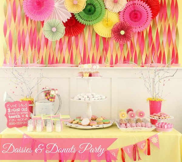 Daisies And Donuts Party Idea So Many Girls Dream About A Of Sweet