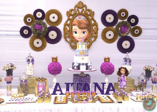 Dream Sofia Princess Party Celebrate Your With The Display Of Fabulous Cake Marshmallow