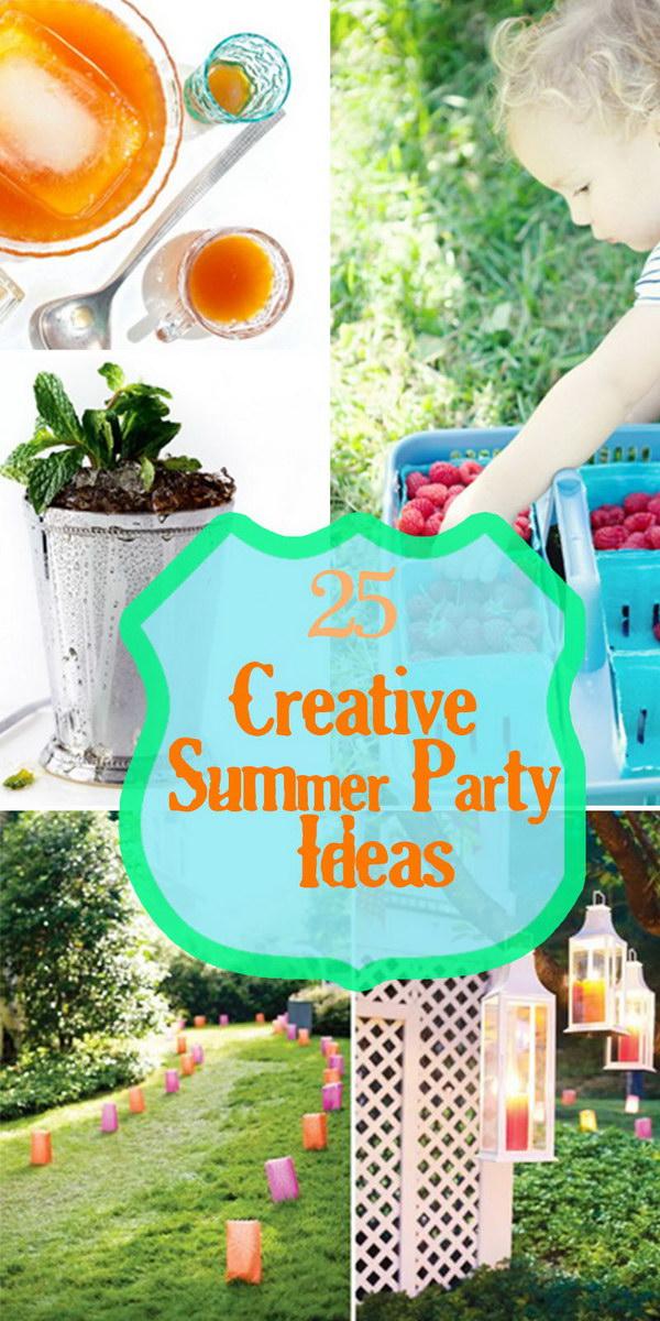 25 Creative Summer Party Ideas Hative