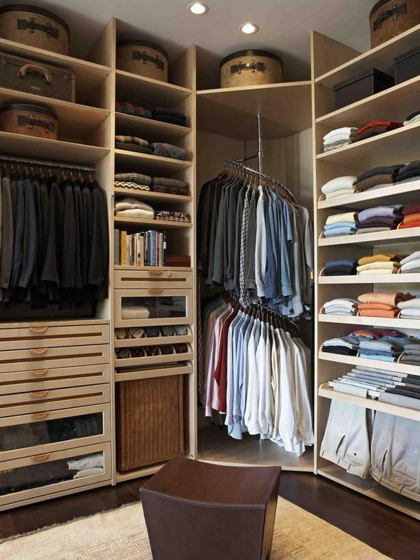 25 creative ideas for bedroom storage hative Rooms without closets creative