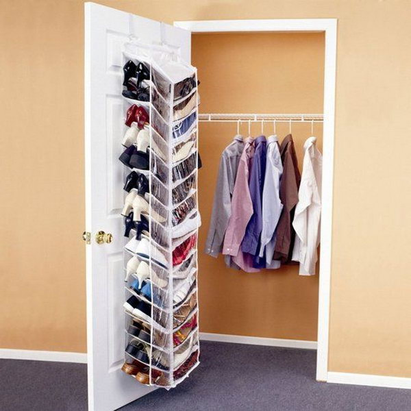 Shoes Hanging Closet Door It Would Be Such A Mess To Throw Pile Of