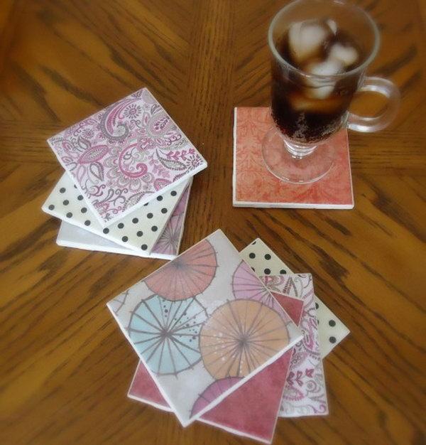 Glass Tile Centerpiece : Creative ideas for reusing leftover ceramic tiles hative