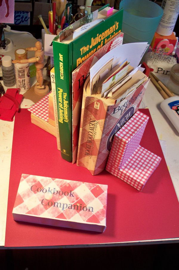 DIY Bookends with Ceramic Tiles.