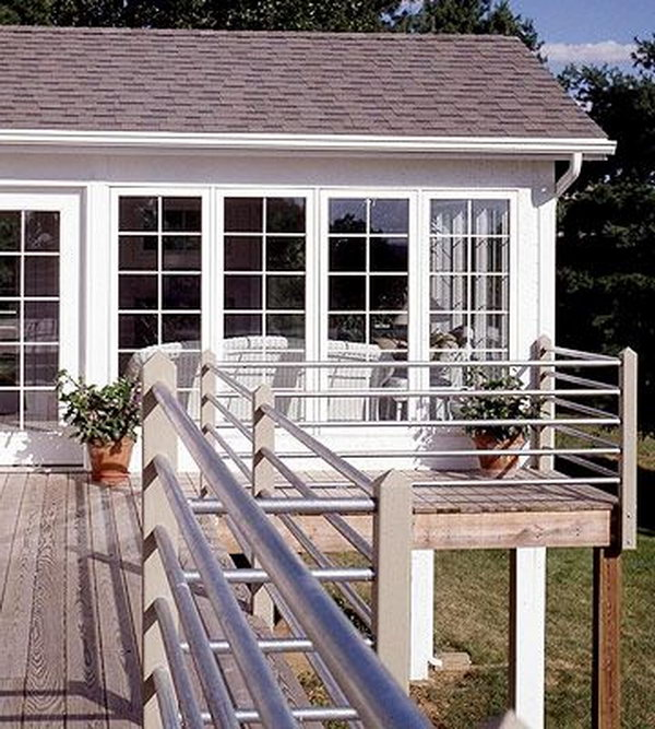 Deck railing cheap ideas joy studio design gallery for Cheapest place for decking