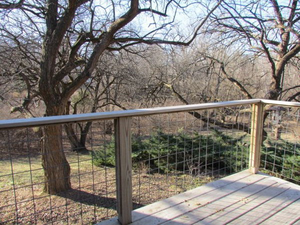 Wire Lattice Deck Railing. This Striking Yet Inexpensive Wire Lattice Deck  Railing Idea Is Really