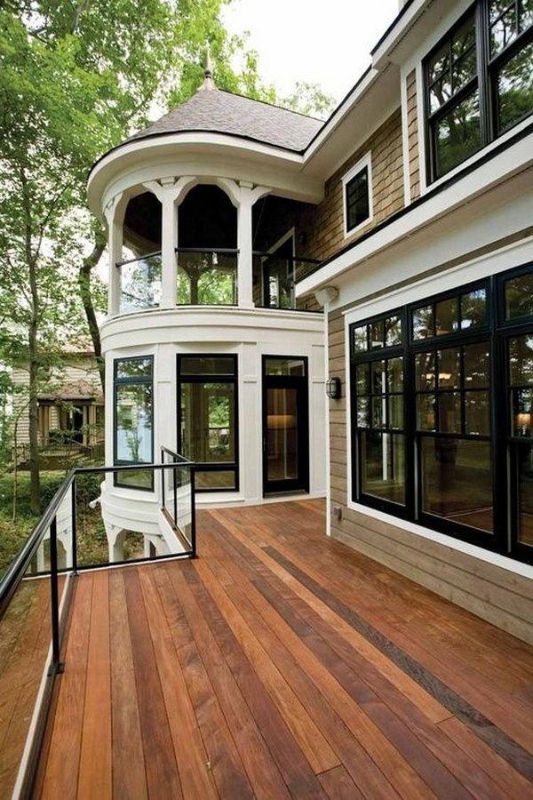 20 creative deck railing ideas for inspiration hative. Black Bedroom Furniture Sets. Home Design Ideas