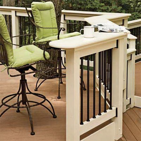 wood deck railing ideas. Elegant Black And White Deck Railing. Longevity Aluminum Balusters With Wood Railing Ideas