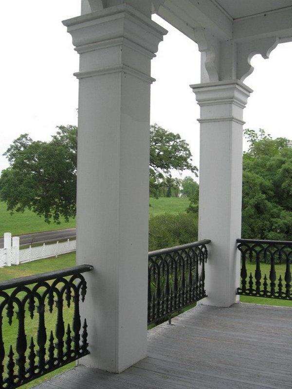 gorgeous white deck railing - Patio Handrail Ideas