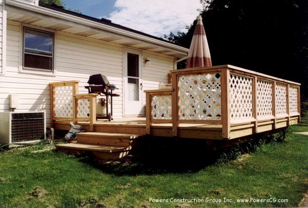 white and wood color lattice deck railing security comes first for everyone when design the - Deck Railing Design Ideas