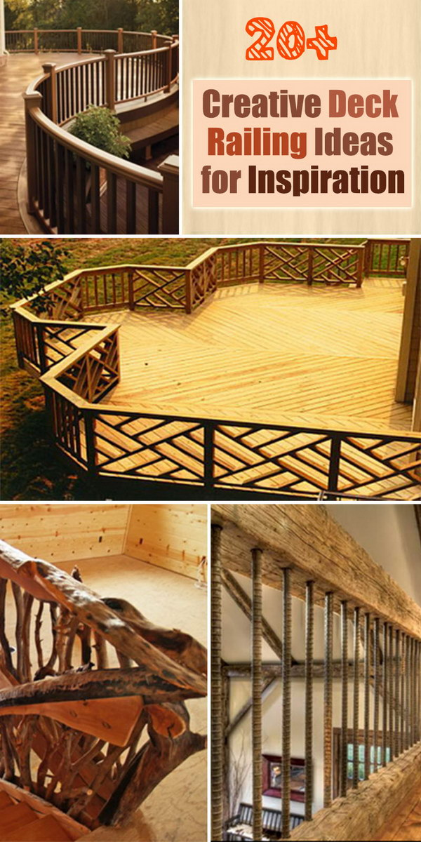 creative deck railing ideas for inspiration - Ideas For Deck Designs