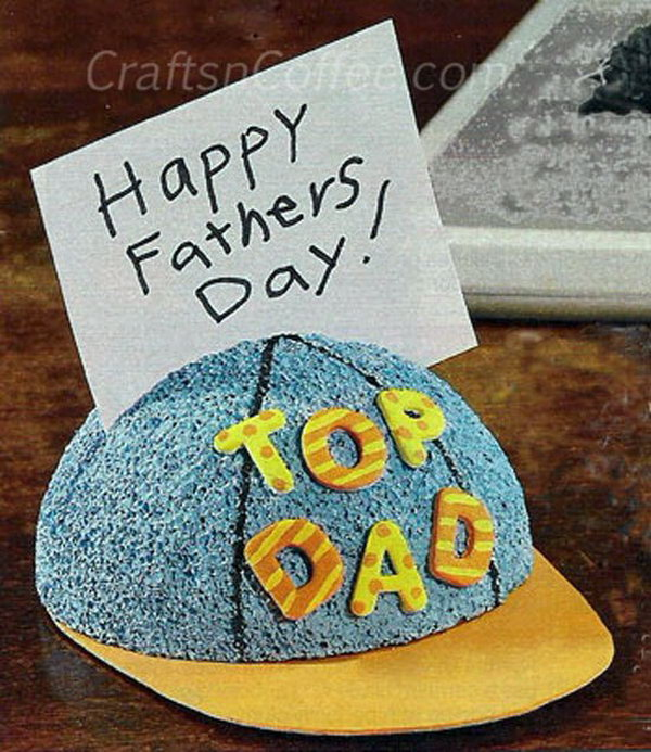 Ball Cap Craft. If your Dad is a big fans of sports, how about making him a ball cap organizer for his desk as a Father's day gift. Learn how to do it here.