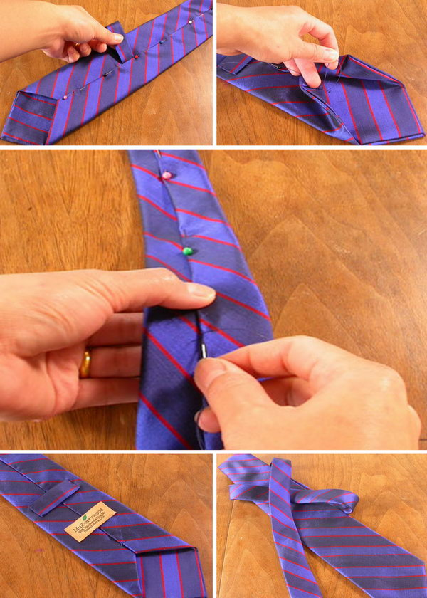 Homemade Tie. This would be a favourite of all the men in your family if you never did it before. Your father will wear it with pride. See the how to do it here.