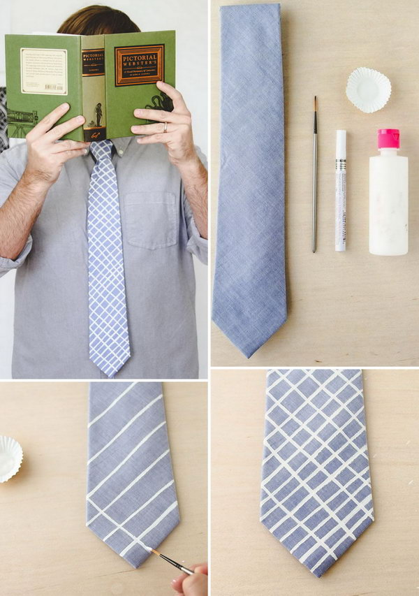 Hand Painted Ties DIY. For Father's day gift, handmade ties would be a great idea. And it's very simple to do. Learn how to do it here.