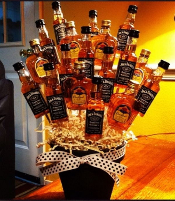 Beer Flowers. It is a fun way to give beers to your father or husband as a gift. Beer flowers is a great gift choice for men because no man dislikes beers.
