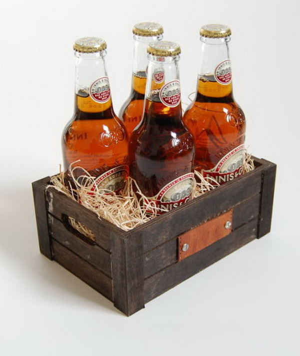 Personalized Beer Crate. It is a cool way to give your favorite man beers in a unique crate as a present on special days like his birthday or Christmas.