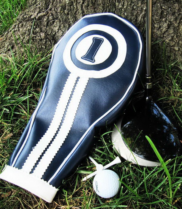 Golf Headcover. It is a perfect gift idea to make a personalized golf headcover for your father or husband if he is a golf lover.