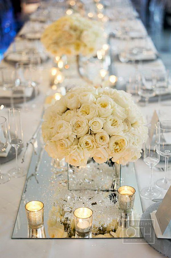 Superieur Mirror Centerpieces Decorations