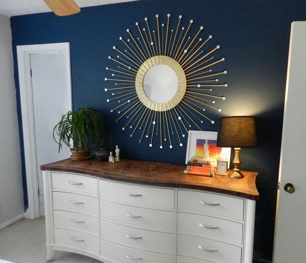 Sunburst Ceiling Medallion 25 DIY Ideas with Mirrors - Hative