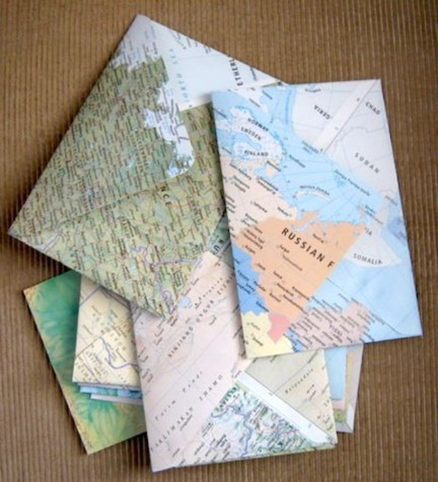 25 Creative DIY Map Projects - Hative on