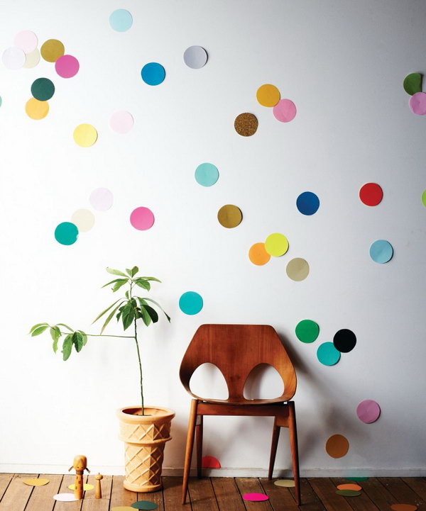 Giant Confetti Wall Gather A Pile Of Colorful Paper Cut All Circles Out