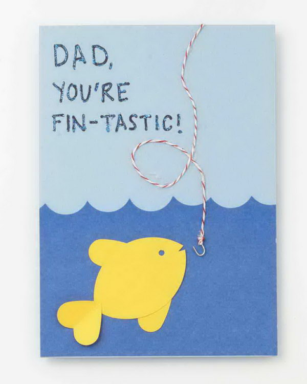 Fin Tastic Fishy Father's Day Card