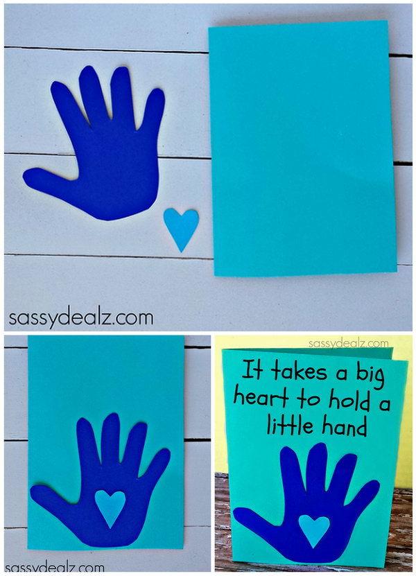 Kid's Handprint Father's Day Card