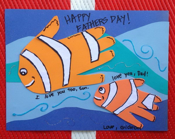 Fish Handprint Father's Day Craft