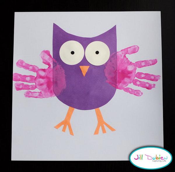 Adorable Handprint Owls.