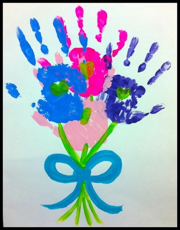 Handprint Bouquets Craft.