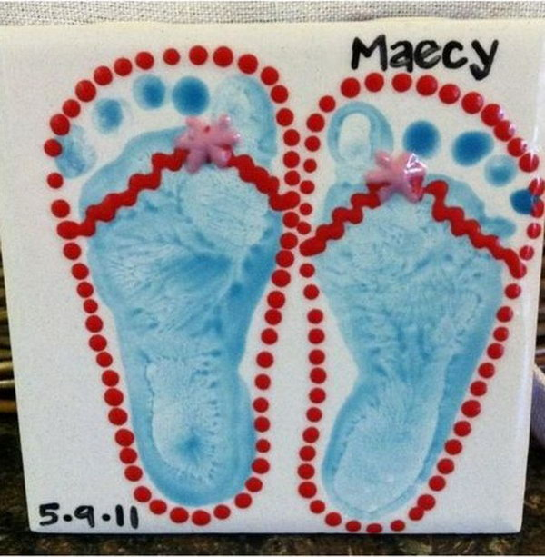 Cute Flip Flop Craft.