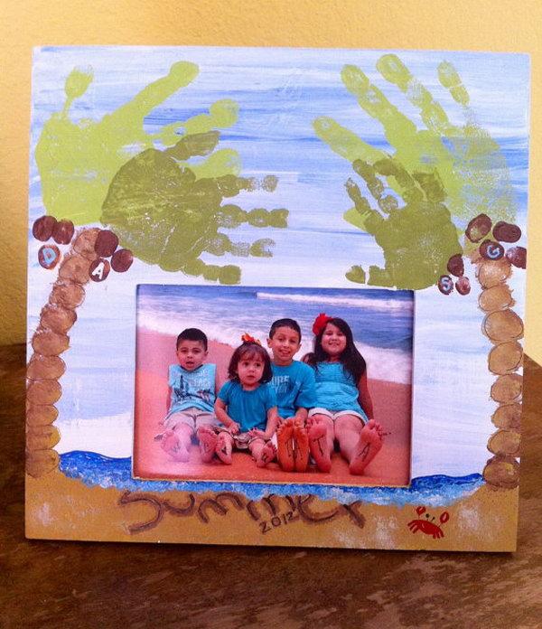 Footprint Beach And Palm Trees