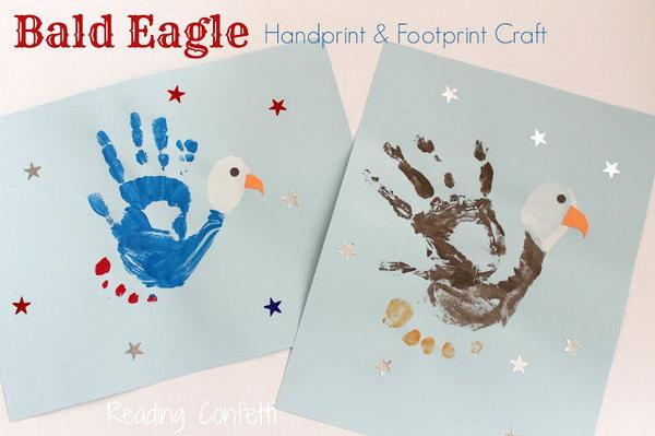 Bald Eagle Handprint and Footprint Craft.