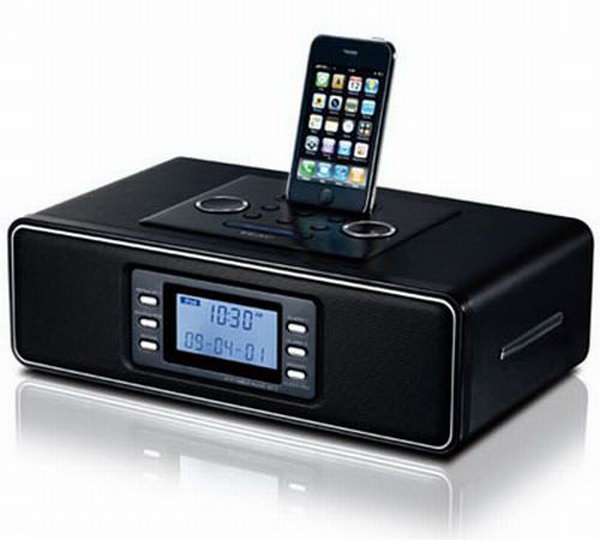 Clock Radio Station. This amazing electronic device features its multiple functions. It can be served as a iPhone dock, an alarm clock as well as a FM tuner. Anyone must adore its versatile functions as well as fantastic outlook.