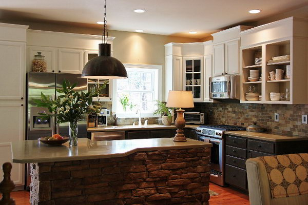 Stone Island Kitchen | 20 Cool Kitchen Island Ideas Hative