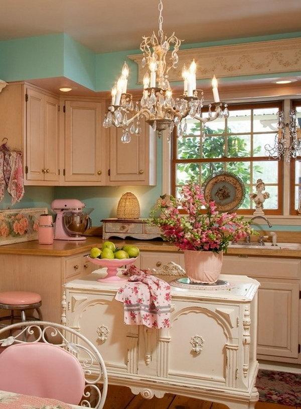 Shabby Chic Kitchen Island - gerryt.com