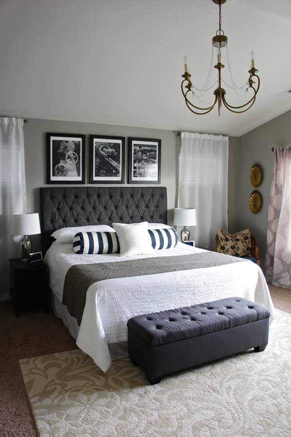 Superbe White And Black Master Bedroom Paint Color Ideas