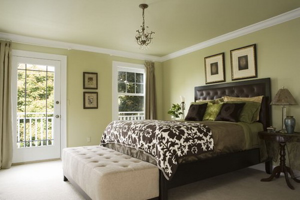 45 beautiful paint color ideas for master bedroom hative Brown and green master bedroom ideas
