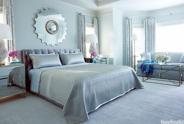 45 beautiful paint color ideas for master bedroom hative - Blue bedroom paint ideas ...