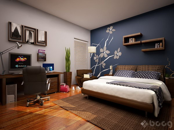 Blue Master Bedroom Paint Color Ideas Source