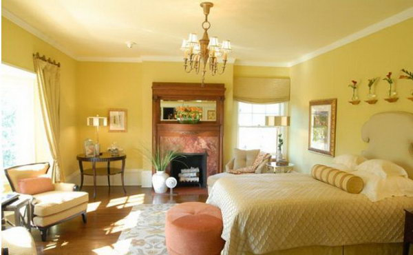 Yellow Master Bedroom 600 x 370
