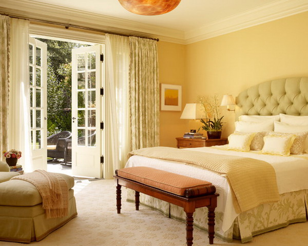 45 beautiful paint color ideas for master bedroom hative Master bedroom with yellow walls