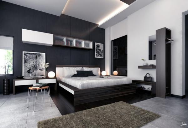 Attirant White And Black Master Bedroom Paint Color Ideas