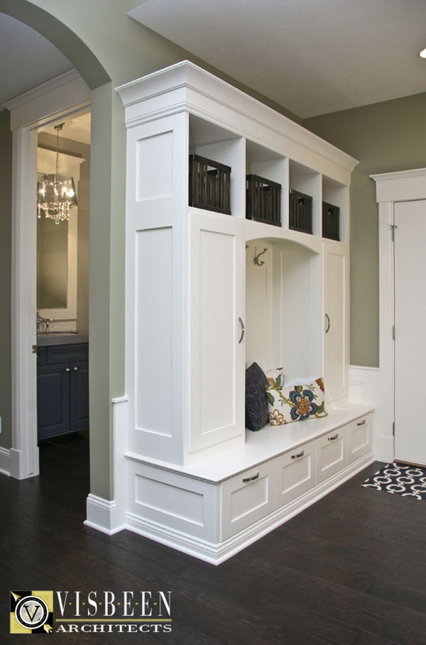 Foyer Built In Cabinets : Awesome mudroom ideas hative