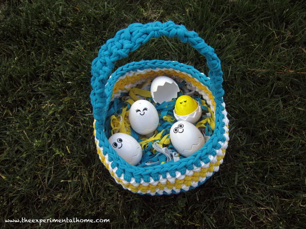 20 creative ideas to repurpose your old t shirts hative braided easter basketything you make out of t shirt yarn should be soft and negle Images