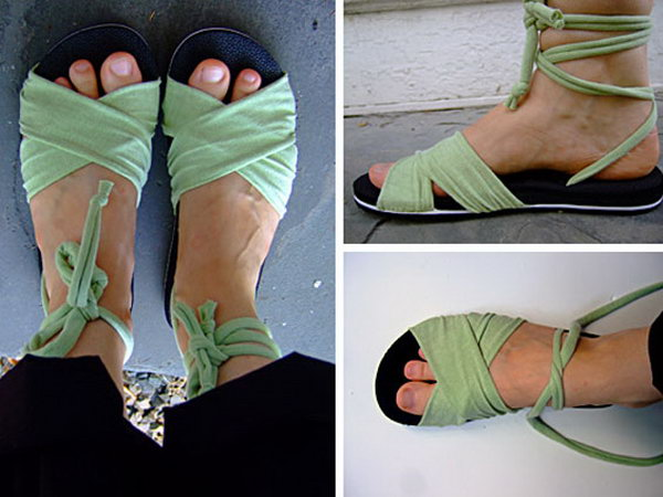 DIY Summer Sandal.Summer is around the corner, sandals will be a necessity in our day. Here I will show you an easy and inexpensive way to make sandals from the old T shirts.