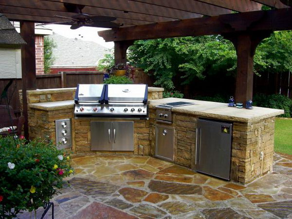 25 COOL AND PRACTICAL OUTDOOR KITCHEN IDEAS Patio Furniture