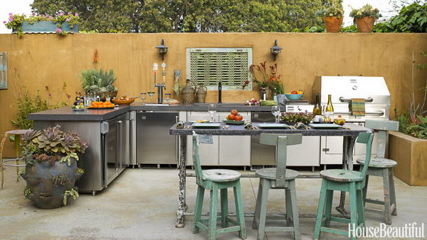 25 cool and practical outdoor kitchen ideas hative for California outdoor kitchen designs